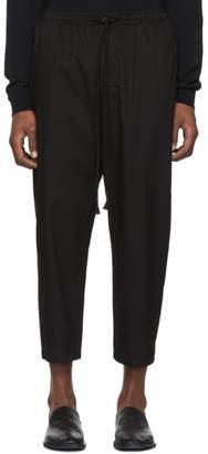 The Viridi-anne Black Drawstring Trousers