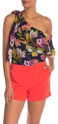Trina Turk Buttonwillow Floral Print Silk Blouse