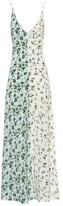 Lee Mathews Floral silk maxi slip dress