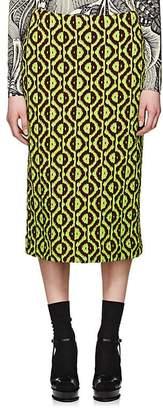 Dries Van Noten Women's Geometric Midi-Skirt