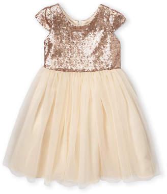 Dorissa Girls 4-6x) Sparkle Top Dress