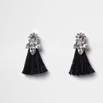 River Island Girls Black jewel tassel drop earrings