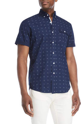 Report Collection Heritage Short Sleeve Star Button-Down Sport Shirt