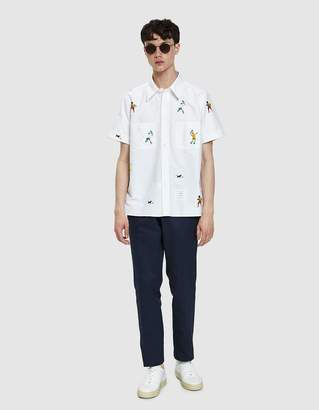 Thom Browne Embroidered Cuban Shirt