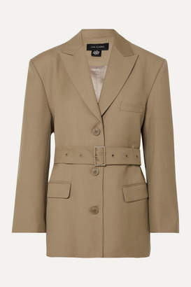 Low Classic Belted Wool-blend Blazer - Beige