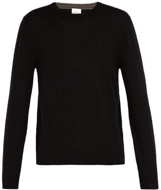 Paul Smith Crew Neck Merino Wool Sweater - Mens - Black