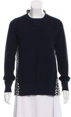 Sacai Printed Knit Sweater