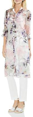 Vince Camuto Sheer Floral-Print Tunic