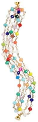Panacea Mutlicolored Crystal Multistrand Bracelet