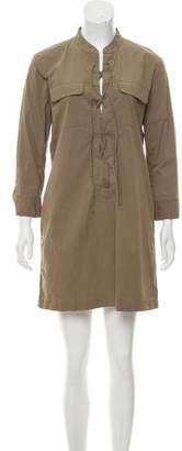 Theory Long Sleeve Midi Dress