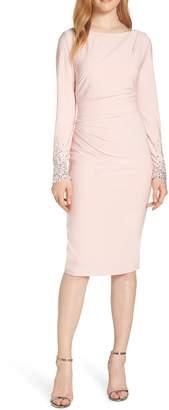 Vince Camuto Long Sleeve Bateau Neck Cocktail Dress