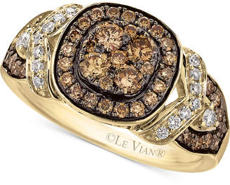 Le Vian Chocolatier® Framed clustersTM Diamond Ring (9/10 ct. t.w.) in 14k Gold $5,400 thestylecure.com