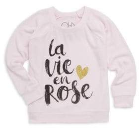Chaser Little Girl's& Girl's La Vie En Rose Sweatshirt