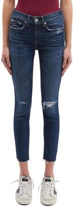 Rag & Bone Ripped cropped skinny jeans