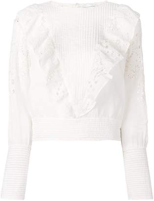 Rosalie Les Coyotes De Paris ruffled lace blouse