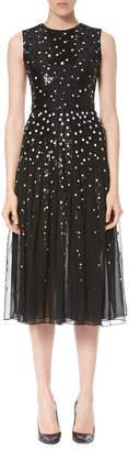 Carolina Herrera Dotted Sequin Tulle Cocktail Dress, Black/White