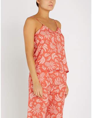 Desmond & Dempsey The Pop Artist fruit-print cotton cami pyjama top