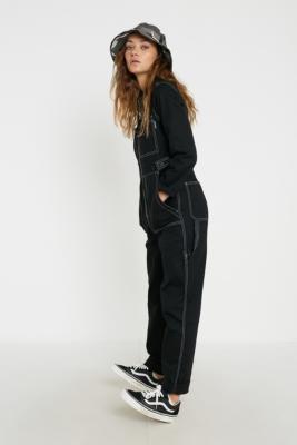 Santa Cruz UO Exclusive Utility Boilersuit - black UK 6 at Urban Outfitters