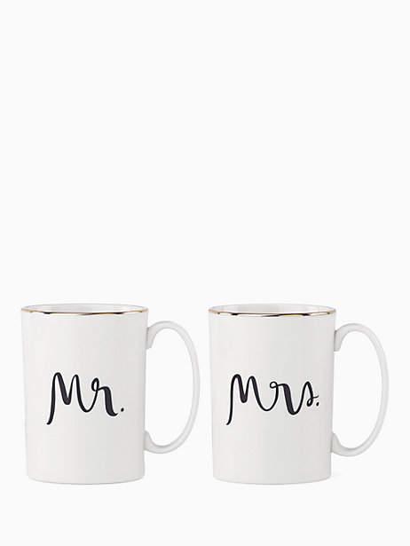 Mr & mrs mug set
