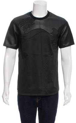 3.1 Phillip Lim Leather Trimmed T-Shirt