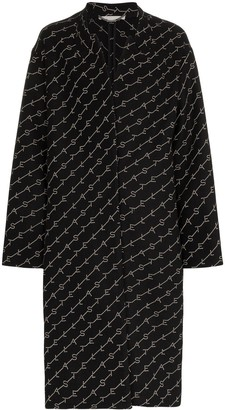 Stella McCartney logo print oversized coat