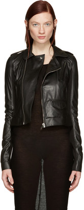 Rick Owens Black Leather Classic Stooges Jacket $1,730 thestylecure.com