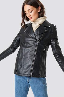 NA-KD Na Kd Oversized PU Jacket Black