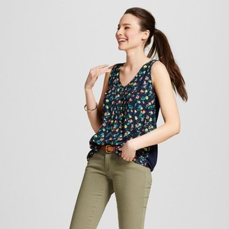 Merona Women's Printed Button-Front Tank $17.99 thestylecure.com