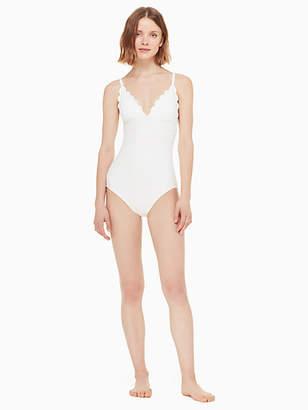 Kate Spade Marina piccola v-neck one-piece swimsuit