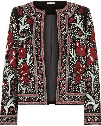 Vilshenko Regan Embroidered Velvet Jacket - Black