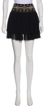 Pierre Balmain Embellished Mini Skirt
