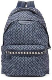 Stella McCartney Medium Windsor Tie-Print Nylon Backpack