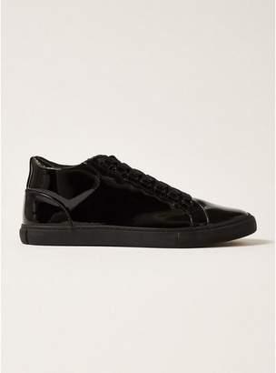 Topman Mens Black Patent Upper Rocco Sneakers