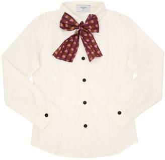 Tom Cotton Shirt W/ Printed Bow