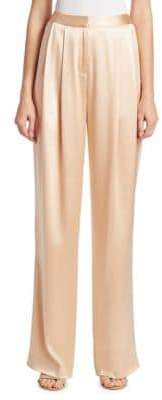 ADAM by Adam Lippes Silk Charmeuse Pleat Front Pants