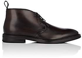 Antonio Maurizi MEN'S BURNISHED LEATHER CHUKKA BOOTS