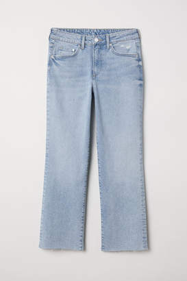 H&M Straight High Ankle Jeans - Blue
