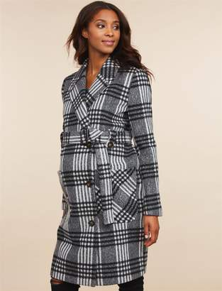 Motherhood Maternity Button Front Wool Maternity Peacoat