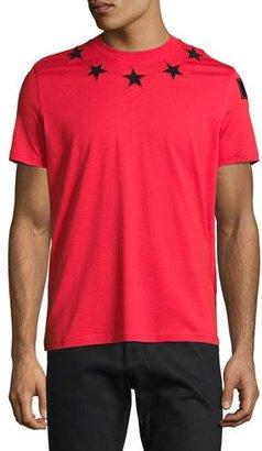 Givenchy Cuban-Fit Star-Appliqué T-Shirt, Red $550 thestylecure.com