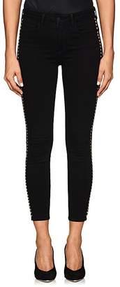 L'Agence Women's Margot Studded Skinny Jeans