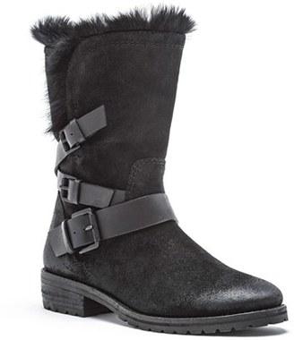 Women's Andrew Marc Hudson Genuine Rabbit Fur Boot $324.95 thestylecure.com