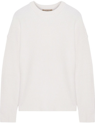 Michael Kors Collection - Ribbed Cashmere-blend Sweater - Cream $875 thestylecure.com