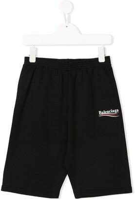Balenciaga Kids logo print shorts