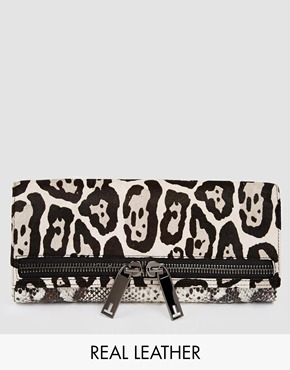 Ted Baker Large Zip Exotic Clutch Bag