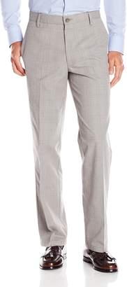 Dockers Signature Khaki Flyweight Straight Fit Flat Front Pant, Chatman Plaid Forged Iron, 34x34
