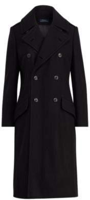 Ralph Lauren Double-Breasted Wool Coat Black L