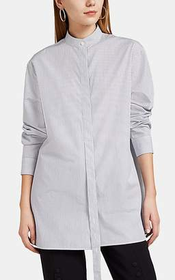 Jil Sander Women's Striped Cotton Belted Blouse - Navy