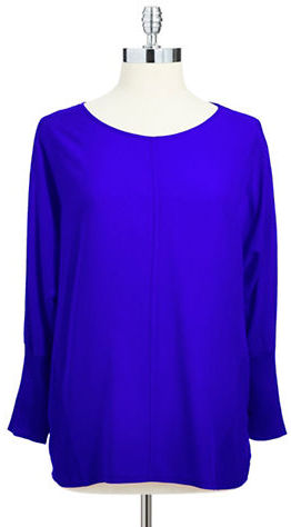 Vince Camuto TWO BY Batwing Mixed-Media Top
