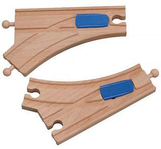 Brio Toys For Play Mechanical Switch Track X 2 For Wooden Railway Train Set 50957 Compatible