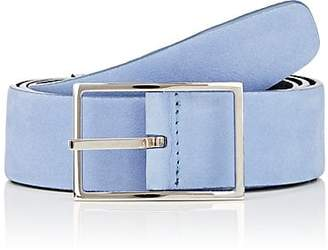Simonnot Godard SIMONNOT GODARD MEN'S SUEDE BELT - BLUE SIZE 36